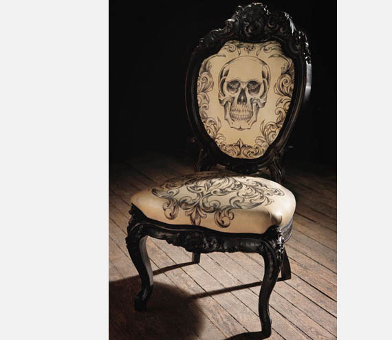 Cool Men's Furniture Design: Cool Mens Furniture Design Tattooed Chair Mama Tried Most Creative Chair Design