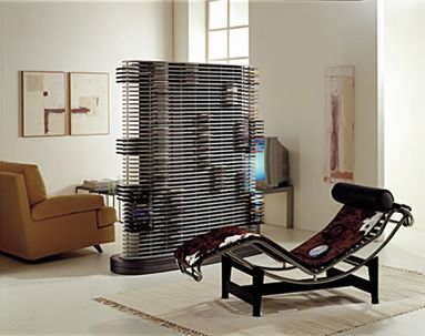 Cool DVD Storage Ideas : Cool Modern DVD Storage Design As A Room Divider Ideas