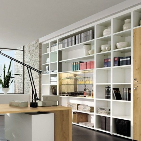 Marvellous Smart Space For Home Office Design: Cotemporary Thoughtful Home Office Storage Solution Ideas That Specially Built To Maximize Your Space And Efficiency