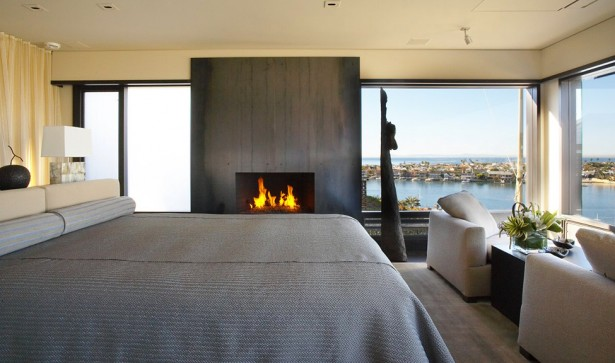 Luxury Apartment With Integrating Panoramic Window: Cozy And Vacation Like Luxury Bedroom Design With Harbor View Via Frameless Glass Window  ~ stevenwardhair.com Apartments Inspiration