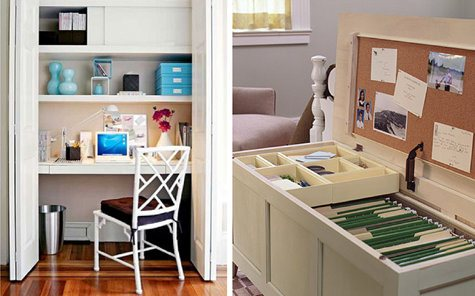 Pictures Of Home Office Desk Design Ideas : Cozy Closet Home Office Desk With Computer Chair Book Shelf Inspiring File Cabinet Wooden Flooring Ideas