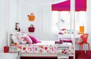 Perfect Colored Bedroom Decorating Ideas For Girls Who Love To Read : Cozy Familiar And Popular Color Arrangements Bedroom Decorating Ideas For Girls With Bright Pictured Pink Girl Bed With Study Desk And Round Dot Rug