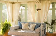 Breathtaking Furniture Room Layout And Accent Pieces Sunroom Design Ideas : Cozy Sunroom With A Hanging Sofa That Show Natural Energies With Perfect Furniture Room Layout And Accent Pieces And Bringing In Beautiful Natural Light