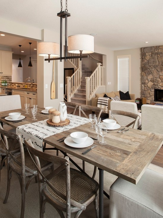 Marvelous Dining Tables Set And Chairs: Cozy Tall Dining Tables And Chairs At Contemporary Dining Room
