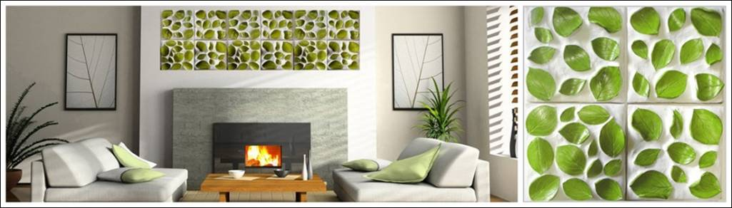 3D Wall Tile Design Ideas For New Dimension Of Wall Decor: Cozy White Modern Living Room Design With 3D Wall Tile From Kls Designs With White Sofa And Wooden Table With Fireplace And Wall Decor Ideas