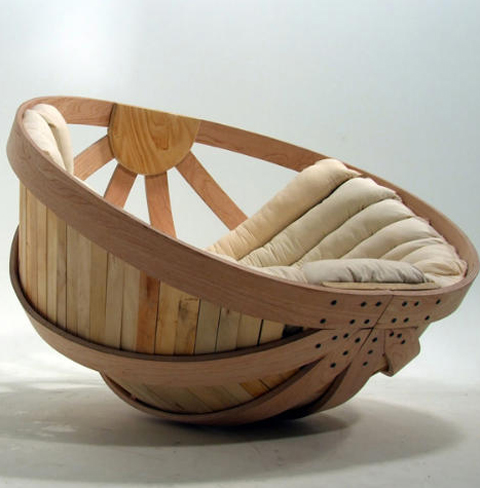 Modern Rocking Chair Design Ideas: Cradle Rocking Chair By Richard Clarkson 1