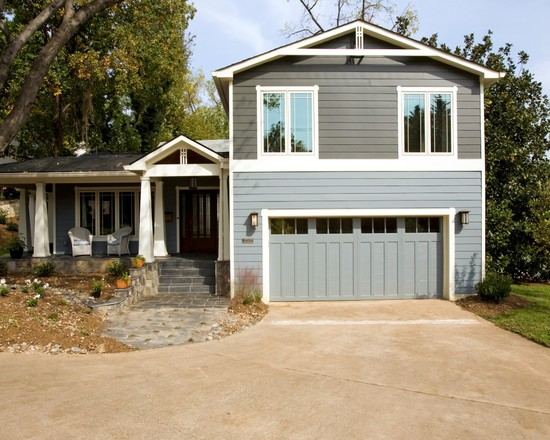 Exciting Hardie Wood Plank Siding : Craftsman Garage And Hardie Planks Wood Gray Modern Siding