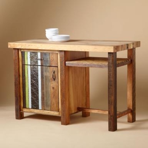 Vintage Wooden Kitchen Island Designs: Custom Beautyful Wooden Vintage Kitchen Island Designs A Solid Surface To The Top