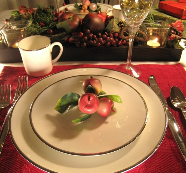 Fascinating Christmas Banquet Table Decoration Ideas: Cute Christmas Banquet Table Decoration Ideas Charming Contemporary Christmas Table Settings With Red Napkin And Fancy White Level Dish Also Stainless Flatware ~ stevenwardhair.com Holiday Decoration Inspiration