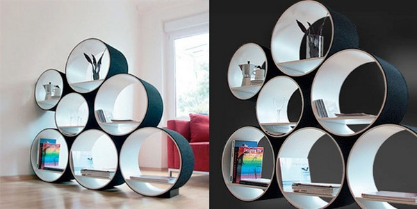 Pictures Of Inspiring Bookshelves : Cz Doris Kisskalts FlexiTube Bookshelves