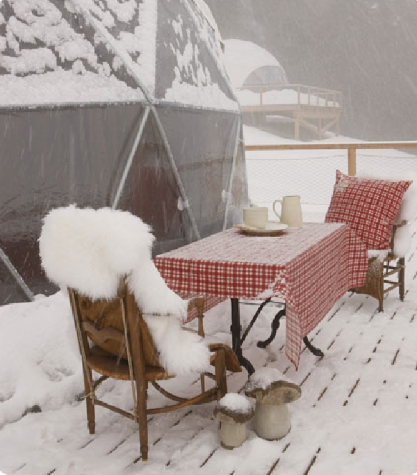 Winter Vacation Destination : WhitePod Alpine Ski Resorts In Swiss Alps : Different Way To Discover The Alps Ideas By Outdoor Dining Table Set Ideas