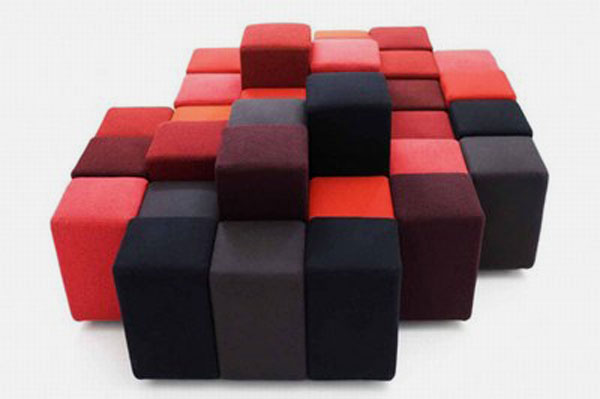 All Kind Of Most Creative And Unique Sofa Design: Do Lo Rez Is Most Creative Sofa Design That Composed Of Several Soft Square Based Cube Or Rectangular Shaped Units Of Various Heights
