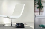Modern Chaise Lounge Design Ideas : Dragonfly Is A Chaise Furniture Where Lounge Is Combined With A Swivel Chair Designed By Karim Rashid