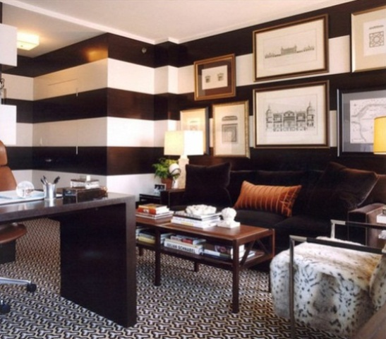 Italian Stylish Home Office Design Ideas : Easy Italian Design Home Office Stylish And Dramatic Home Decoration With Small Offices With Custom Wall Decoraion With White Ceiling And Inspiring Furniture Nd Rug