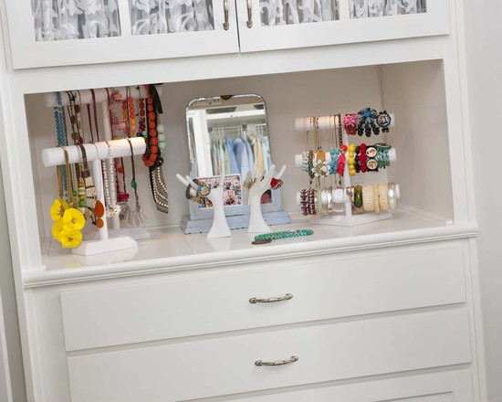 Interesting Bracelet Organizer Ideas : Eclectic Closet Jewelry Storage Shelve Nice And Simple Idea For Bracelets And Short Necklaces