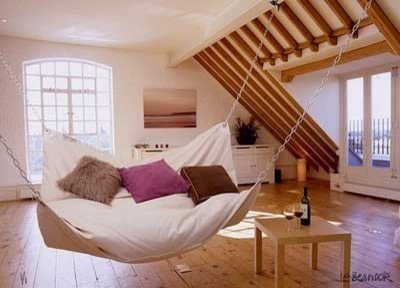 Awesome Hammocks For Indoors: Eclectic Home Office And Comfortable Hammocks For Indoors