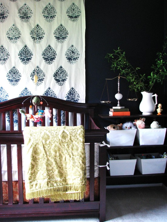 Interesting Unisex Baby Room Themes : Eclectic Kids Color Completely Unisex Cover Up The Orange Wall For Bailey Rose Hanging Cloth On The Walls To Add Color Cozy Pocket Around The Crib