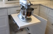 Kitchen Aid Cabinets With Popup Mixer Shelf : Eclectic Kitchen Aid Custom Metallic Series 5 Quart Tilt Head For Mixer Swing Out Shelf And Mixer Pull Out Station And Stand Mixer Shelf That Hides Behind A Cabinet Door When Not In Use