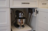 Kitchen Aid Cabinets With Popup Mixer Shelf : Eclectic Kitchen Aid Storage That Will Fit In A Cabinet With A Drawer