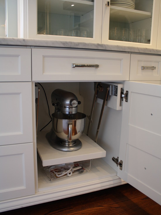 Kitchen Aid Cabinets With Popup Mixer Shelf : Eclectic Kitchen Aid Storage  That Will Fit In
