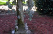 Various Bird Bath Designs : Eclectic Landscape With Cactus Bird Bath Unique Way To Use A Bird Bath Or Fountain Instead Of Water