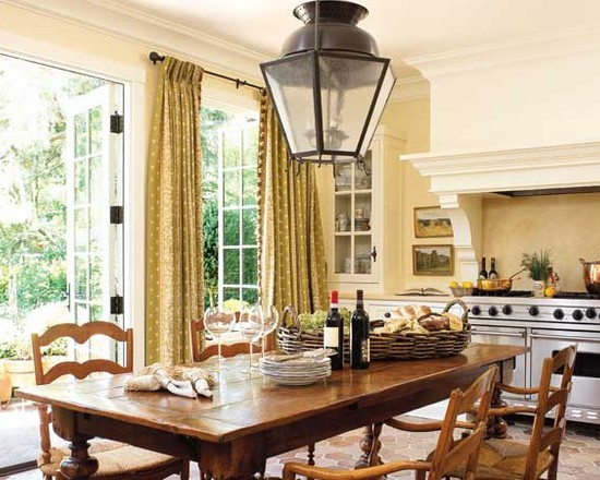 Charming French Door Curtain Rod Designs : Eclectic Tall Long Drapes  Framing French Doors To Open
