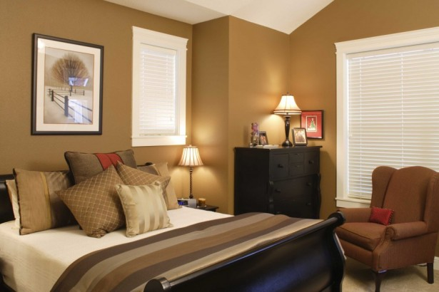 Fresh Full Of Colors Small Bedroom Decoration Ideas: Elegant Brown Paint Colors For Small Bedrooms With Comfort Small Sofa ~ stevenwardhair.com Bedroom Design Inspiration