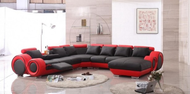 Glamourous Stylish Italian Furniture With Astonishing Details: Elegant Modern Italian Room Decor With A Dazzling Selection Of Flooring Materials And Furniture Design In Red And Black Color ~ stevenwardhair.com Bedroom Design Inspiration