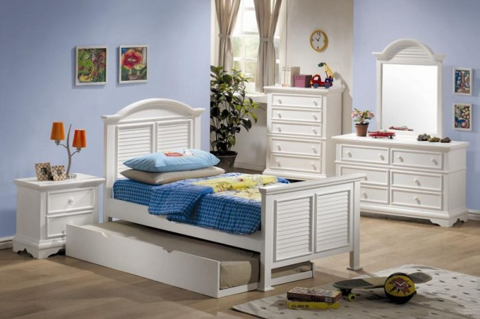 Innovative Boys Room Decoration with Unique Ideas: Elegant White Classic Accents Storage Bed Boys Room Designs Ideas Floor Laminated Design Great Dressing Table Wardrobe