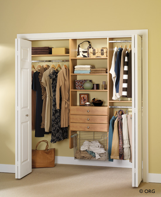 Great Designs For Built In Excellent Wardrobes: Enchanting Closet Designs For Built In Wardrobes On Cream Wall Staggered Hanging Bars Can Double The Amount Of Space You Have For Clothes And Leave Some Extra Footage For Drawers Or Shelves