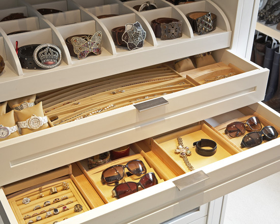 Interesting Bracelet Organizer Ideas : Excellent Closet Storage Compartments Like The Belt And Watch Storage