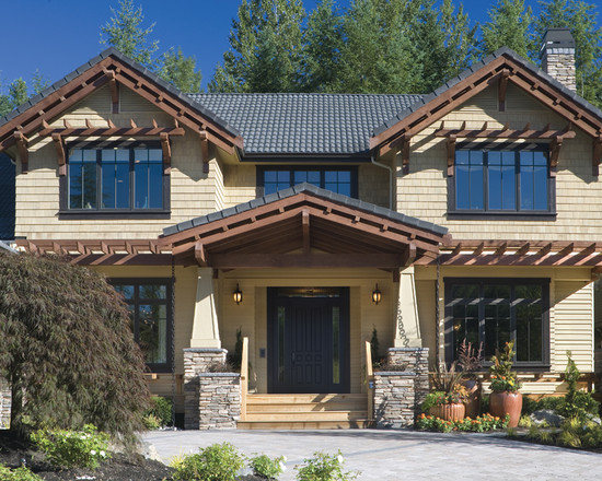 Beautiful Craftsman Style Home Colors: Excellent Craftsman Craftsman Style Home Colors Absence Of Harsh White Such A Relief It Has Tapering Square Columns
