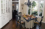 Picture Of Dining Room Table Linen Hangers : Excellent Dining Room Table Linen Hangers Long Bottom Table Cloth To Match Valance And Then Do Short Top Cloth According To Seasons Kitchen Table Enjoy The Stream Of Natural Light Through The Window