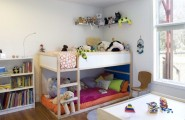 Amazing Kids Playroom Furniture From Ikea : Excellent Modern Kids Kids Playroom Furniture Ikea It Is The Kura Loft Bed And The Mattress Is A Twin Size Used As Small Bunk Bed
