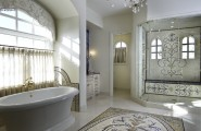 Beautiful Mosaic Ideas For Bathrooms : Exciting Eclectic Bathroom Mosaic Ideas For Bathrooms Mosaics On Floor And In Shower Hey Are All So Inviting And Glamorous Without Being Over Stated