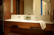 All Kind of Caesar Stone Pictures : Exciting Modern Bathroom What Is Caesar Stone Floating Counter And Storage Like The Wood Also Under And Around Special Little Nook Eggshell Color