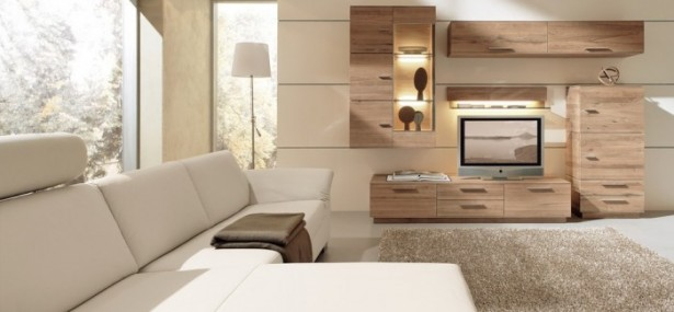 Great Design For Modern Living Room Furniture Ideas: Fantastic White Sofa Wooden Cabinets Modern Modular Wall Units Living Rooms Design Country Cabinets Model Bay Window Nice Storage ~ stevenwardhair.com Contemporary Home Design Inspiration