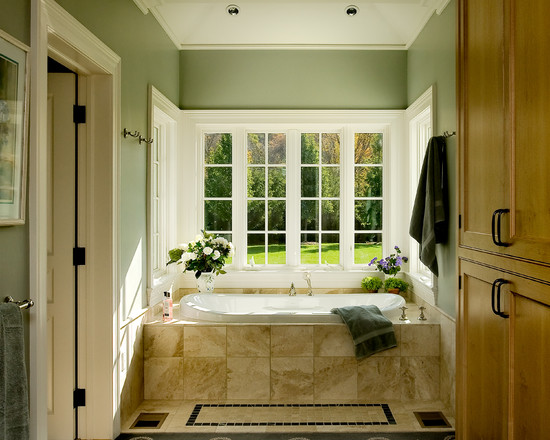 Apply The Color Sage Green For Your Home Design: Farmhouse Bathroom Sage Green Neutral With Other Earthy Tones Perfect Against The Crates Shade Of Green Placement Windows Bedroom Cupboards