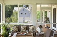 Wonderful Pictures Of Screened In Decks : Farmhouse Screen Porch Comfortable But Beautiful Space That Connects To The Outdoors With Classic Sofa Cushion Rustic Table