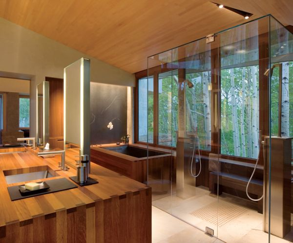 Relaxing Japanese Bathroom Model For You Apartment : Feng Shui Bathroom With Astonishing Floor Design Idea And Lavish Wooden Presence Ideas