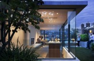 Impressive And Very Lovely Fresh Urban Gardens : Fresh Beautiful Fresh Urban Garden View With Modern Glass Living Room