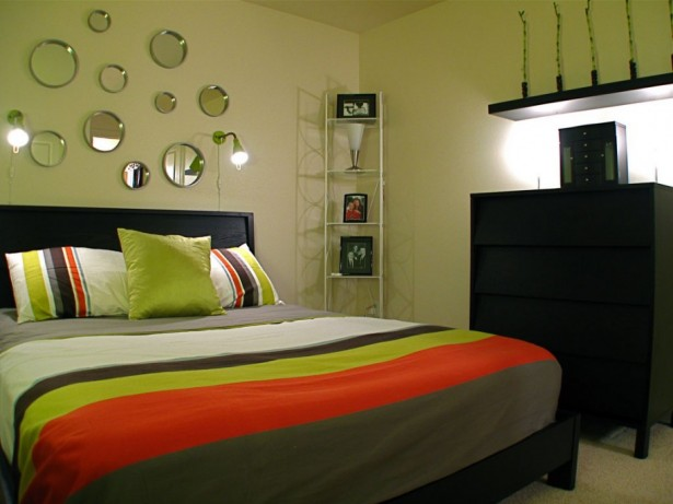 Fresh Full Of Colors Small Bedroom Decoration Ideas: Fresh Paint Colors For Small Bedrooms Round Mirrors Wall Lamp ~ stevenwardhair.com Bedroom Design Inspiration