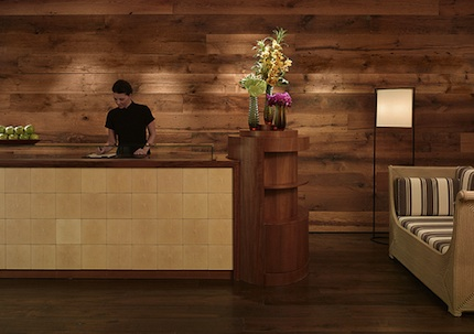 ... Awesome Reclaimed Wood Wall Design Ideas : Front Desk Resorts And  Hotels Are Using Reclaimed Wood ...