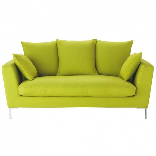 Green Color Apartment Furnitures Themes Four Young Couple: Fun Cozy Green Sofas Steel Legs Green Cushions Design ~ stevenwardhair.com Apartments Inspiration
