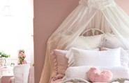 Perfect Colored Bedroom Decorating Ideas For Girls Who Love To Read : Glamour Very Popular Color Arrangements Bedroom Decorating Ideas For Girls Wit Romantic Princess Like Room Large Pillow With Canopy And Nice Old Pendant