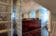 Interesting Photos Of Glass Block Showers : Glass Block Shower Enclosures And Glass Cube Look Within Traditional Bathroom