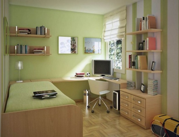 Fresh Full Of Colors Small Bedroom Decoration Ideas: Glossy Laminate Floor Wooden Bedroom Furniture Green Paint Colors For Small Bedrooms ~ stevenwardhair.com Bedroom Design Inspiration
