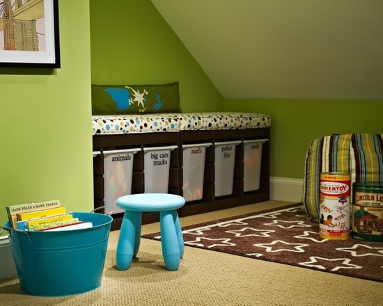 Amazing Toy Storage Cabinets : Good Storage Idea In The Boys Room On The Bookshelf Wall At Modern Kids Room With Trofast Cabinets Keep Toys Organized