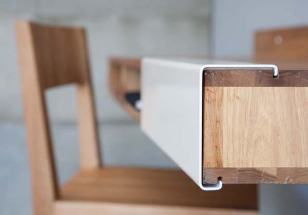 Pictures of Gorgeous Desk Designs : Gorgeous Desk Design LAX Wall Mount Desk By MASHstudios 2