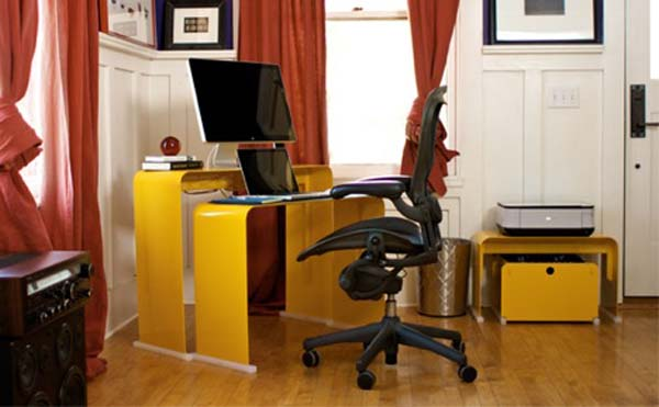 Pictures of Gorgeous Desk Designs : Gorgeous Desk Design Oneless Desk Series 3